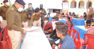 पुलिस लाईन में आयोजित की गई चित्रकला व स्लोगन प्रतियोगिता