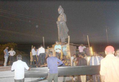 मिहिर भोज की प्रतिमास्थल पर तनाव, पुलिस ने 8 आश्रुगैस के गोले दागे, साहबसिंह गुर्जर सहित 7 लोग गिरफ्तार